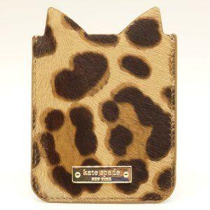 KATE SPADE Leopard Print Sticker Pocket Cardholder